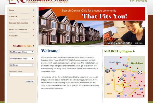 Columbus Condo Resource Center real-estate website for columbus ohio