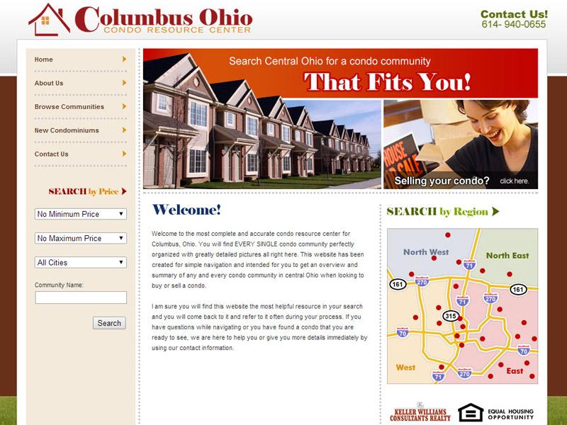 Columbus Condo Resource Center real-estate website for columbus ohio