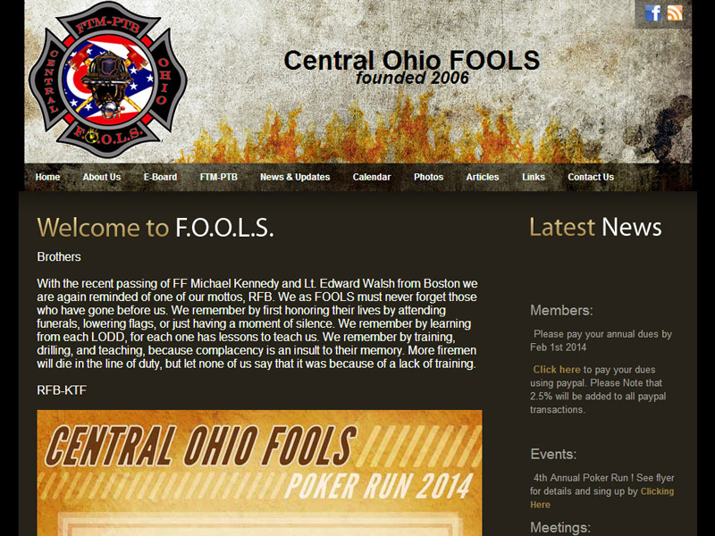 Central Ohio Fools a brotherhood of firefighters society website