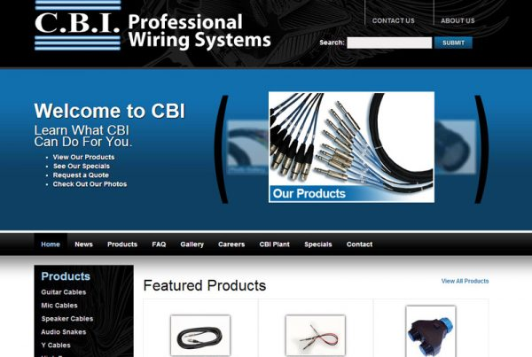 CBI Cables - Wiring Systems Website