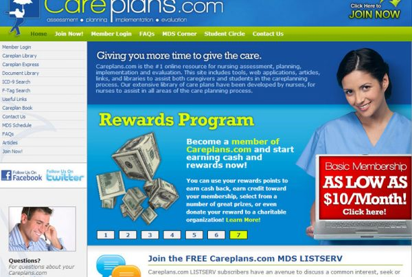 careplans.com nursing website