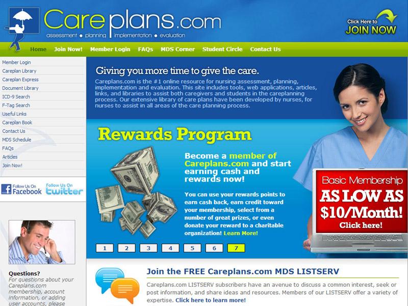 careplans.com nursing website