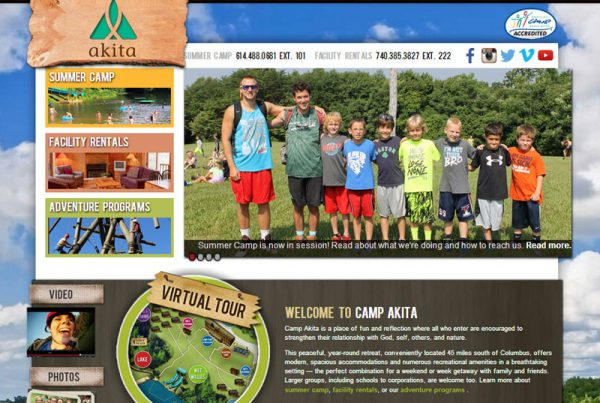 Camp Akita - Summer Camp Registration and Facility Rental Website