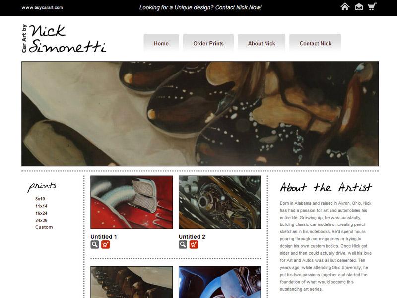 Car Art by Nick Simonetti artist portfolio website