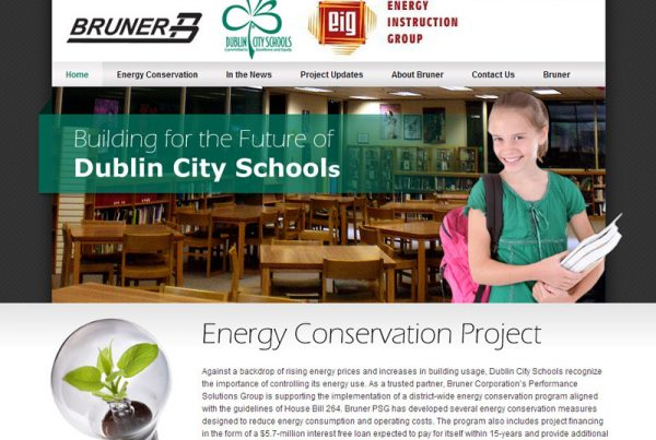 Bruner & Dublin City Schools – energy conservation project