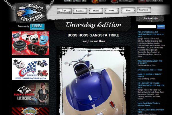 Bikernet Trikes Online magazine website