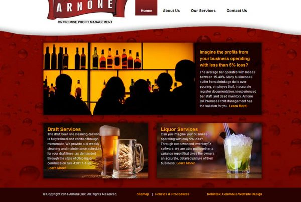 Arnone, INC. small business website consultation for bar and restaurant owners