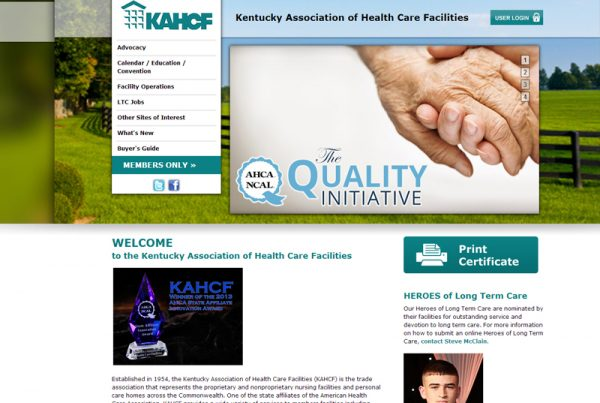 Health Care Organization Website
