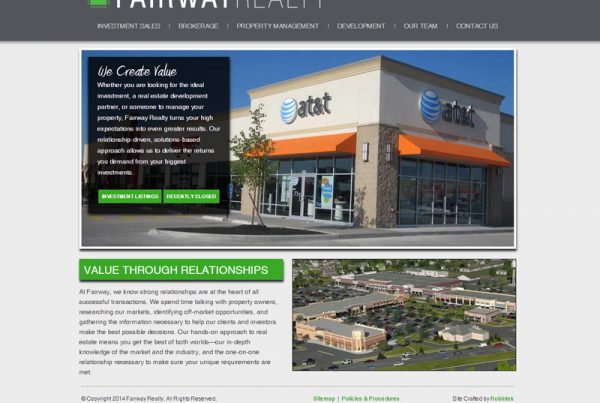 Fairway Realty - Property Management Website