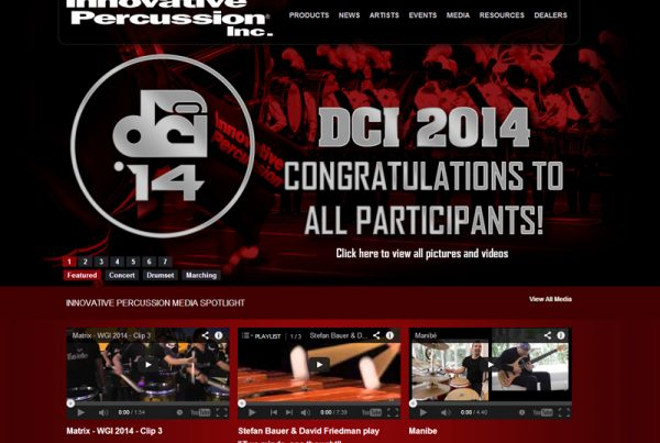 Innovative Percussion - Business Website
