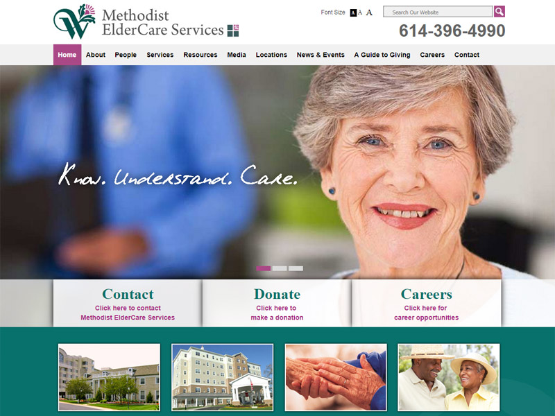 Methodist Elder Care Services - Retirement Community Website