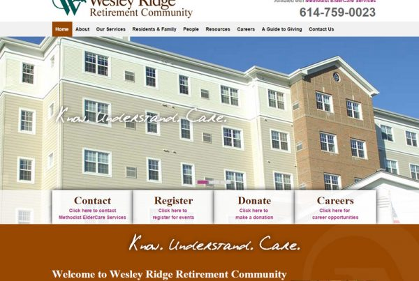Wesley Ridge - Retirement Community Website