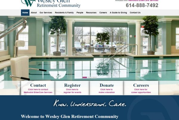 Wesley Glen - Retirement Community Website