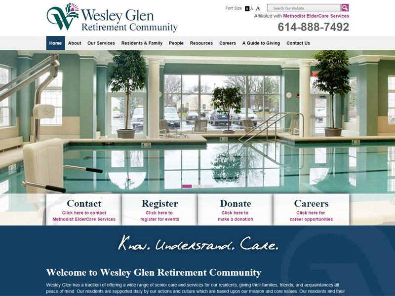 Wesley Glen - Retirement Community Website