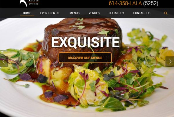 L.A. Catering Business Wordpress Website Design & Build
