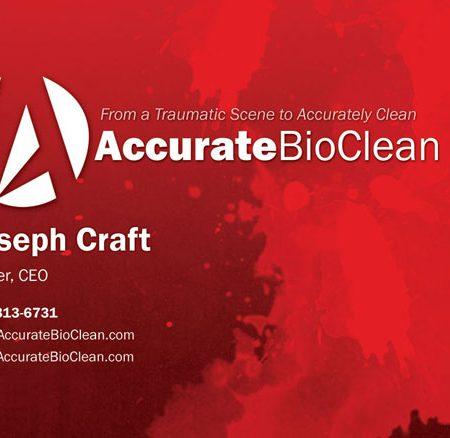 accurate bioclean business card design