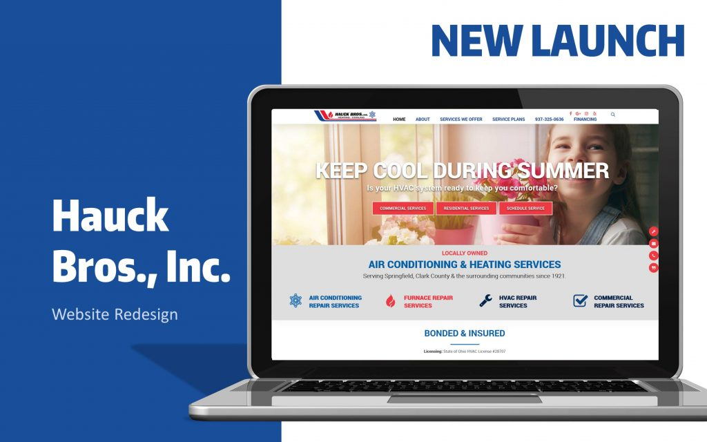 hauck bros website design