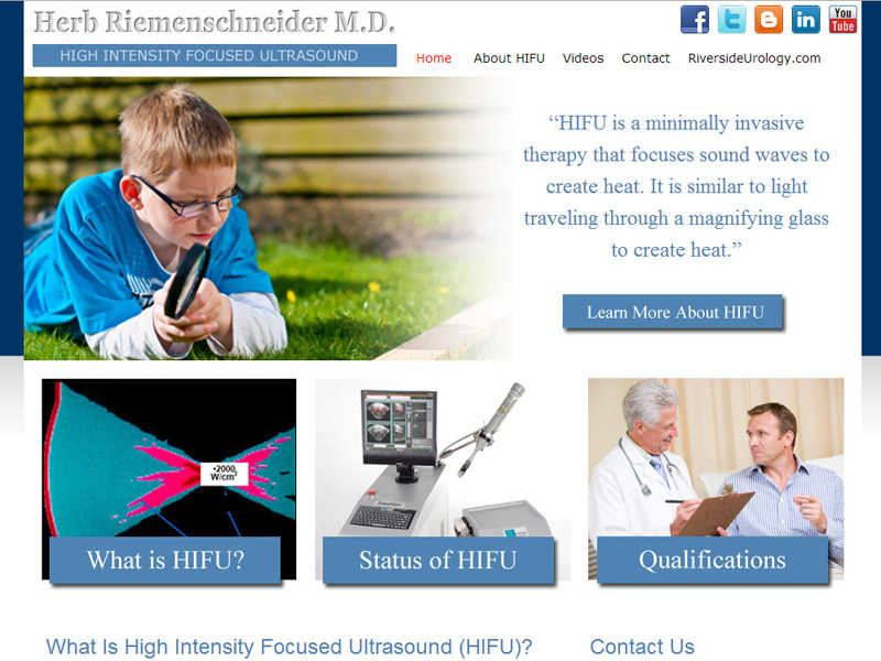 Riverside Urology HIFU - Men's Health Website