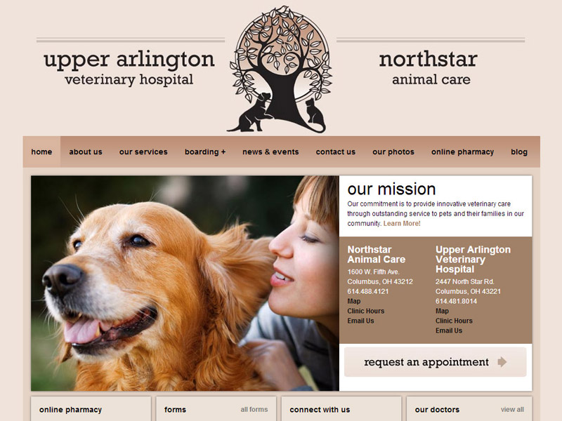Columbus Vet Care - Business Website
