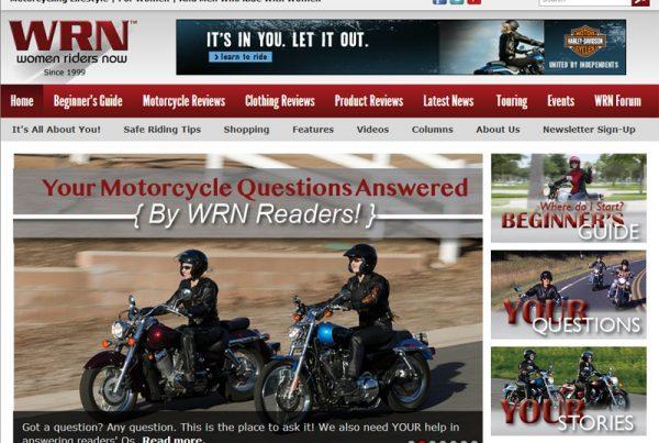 Women Riders Now - Online Magazine Website