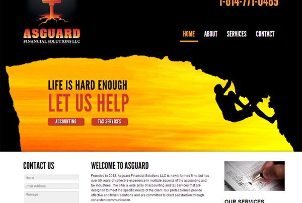 Asguard Financial Solutions - Business Website