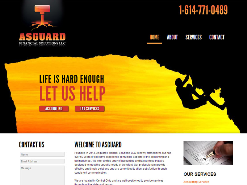 Asguard Financial Solutions - Business Website