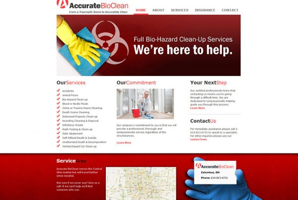Accurate BioClean - Professional Cleaning Service Website