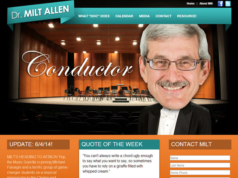 Dr. Milton Allen - Conductor, Clinician and Speaker Website