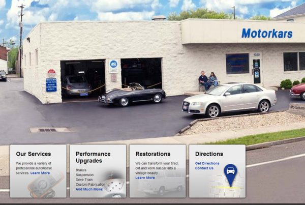Motorkars - Professional Automotive Services Website
