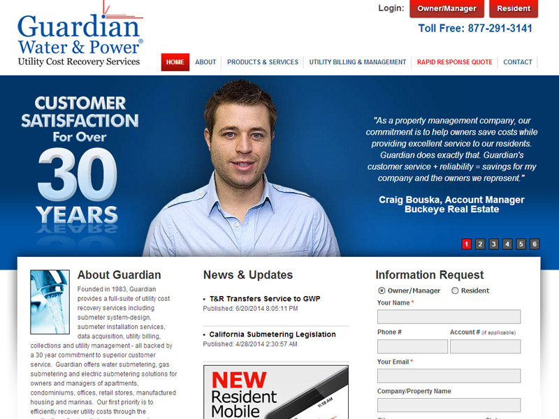 Guardian Water & Power - Member Portal Website with Online Payment