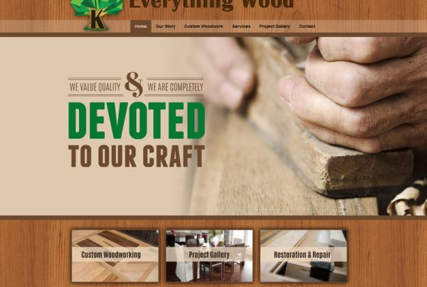 Everything Wood - Custom Woodworking Website