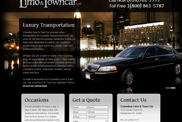 Columbus Limo and Towncar LLC - Luxury Tranportation Website