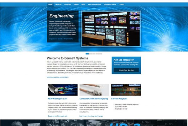 Bennett Systems Inc. - Mobile Television Production Website