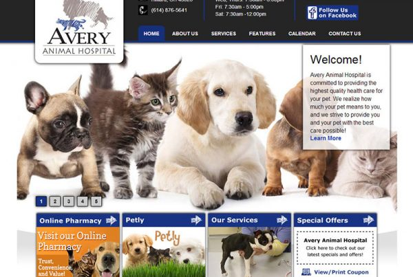 Avery Animal Hospital - Animal Health Website