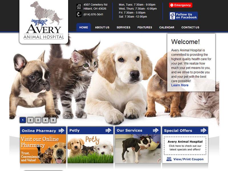 Avery Animal Hospital - Animal Health Website