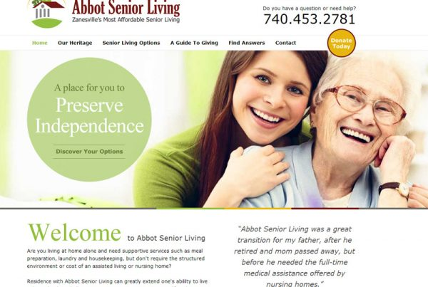 Abbot Senior Living - Retirement Community Website