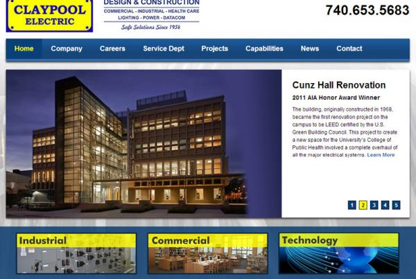 Claypool Electric - Data and Construction Website