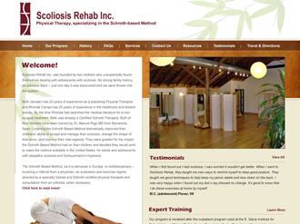 Scoliosis Rehab - Business Website