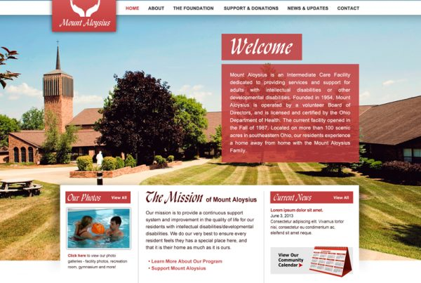 Mount Aloyisius - Care Facility Website