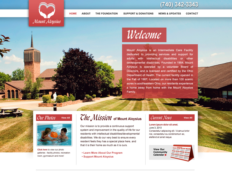 Mount Aloyisius - Care Facility Website