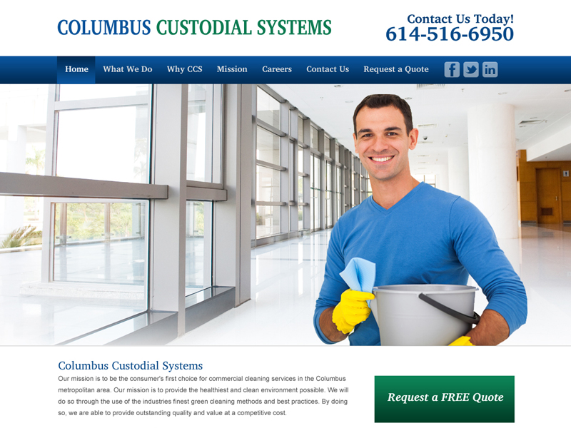 Columbus Custodial Systems - Custodial Services Website