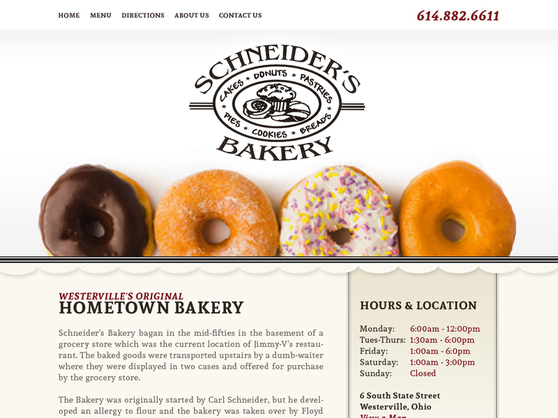 Schneider's Bakery - Culinary Confections Website