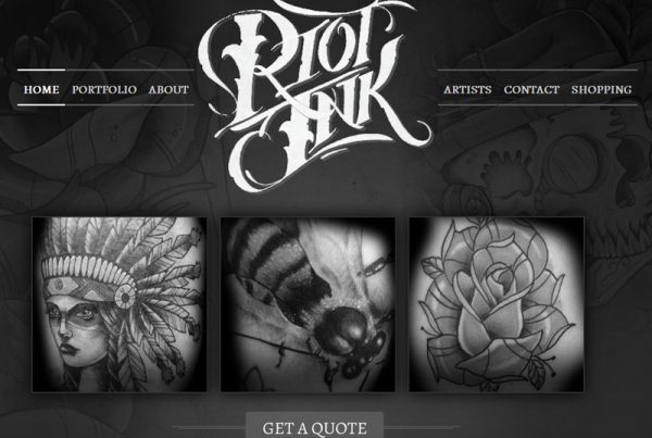 Riot Ink - Tattoo and Art Gallery Website