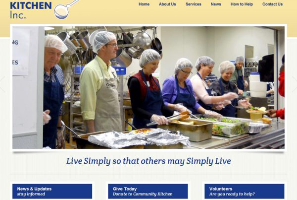 Community Kitchen Inc. - Charity Website