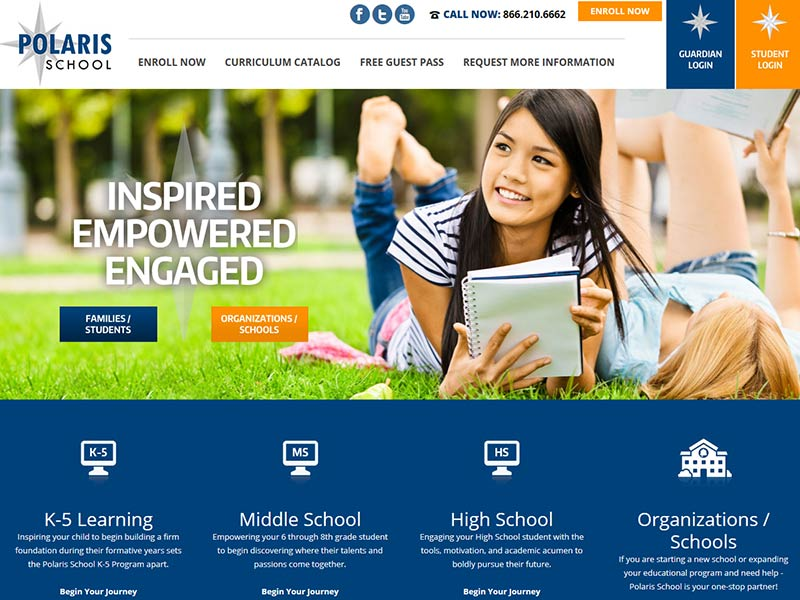 Polaris School - Alternative Schooling Website