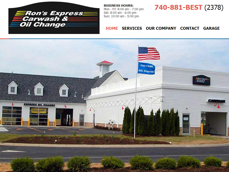 Ron's Express Carwash and Oil Change - Automobile Service Website