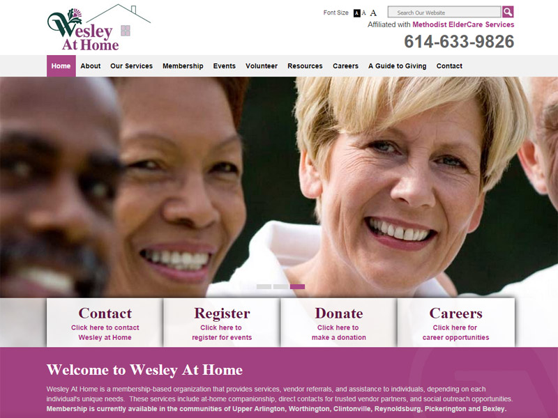 Wesley At Home - Retirement Community Website