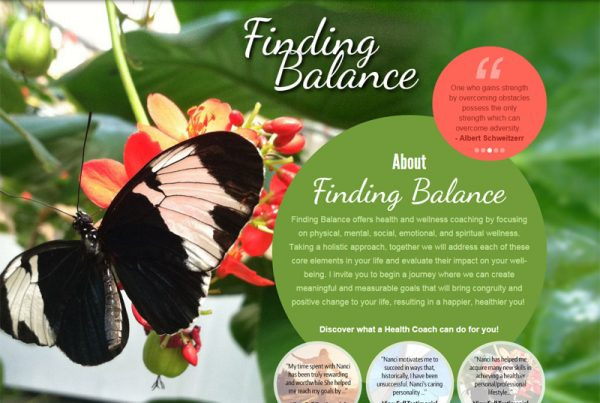 Finding Balance - Health and Wellness Website