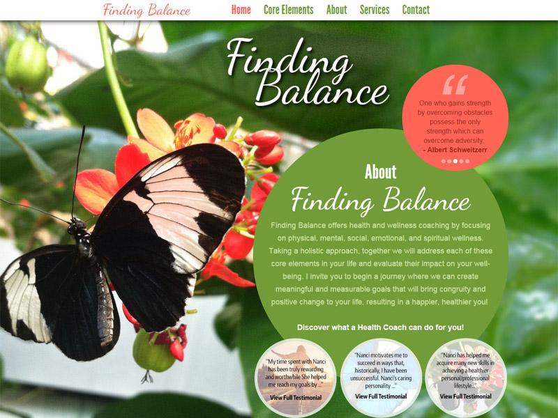 Finding Balance - Health and Wellness Website