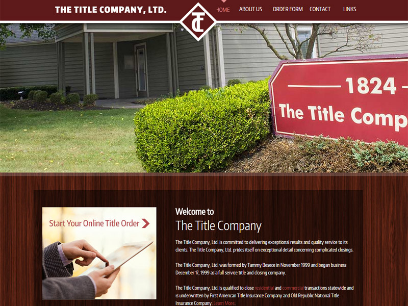The Title Company - Title and Closing Website
